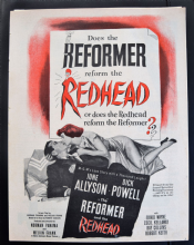 Reformer and the Redhead (1950) - June Allyson | Vintage Trade Ad